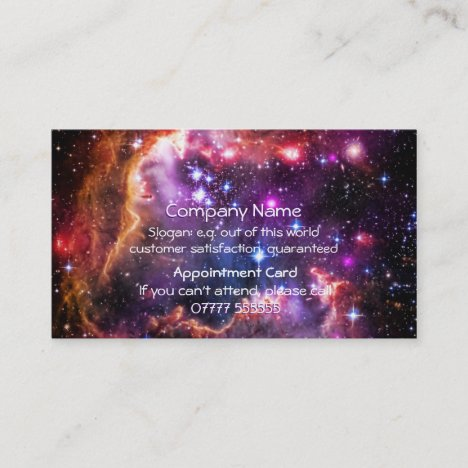 Starry Wingtip of Jewels, Appointment Card