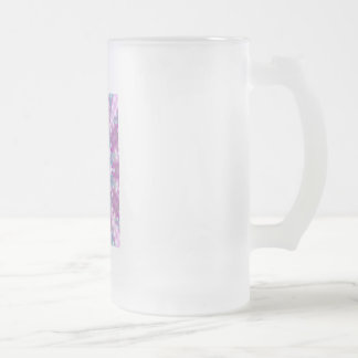 Starry Winter Frosted Glass Beer Mug