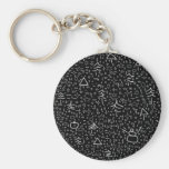 Starry Winter Night Key Chains
