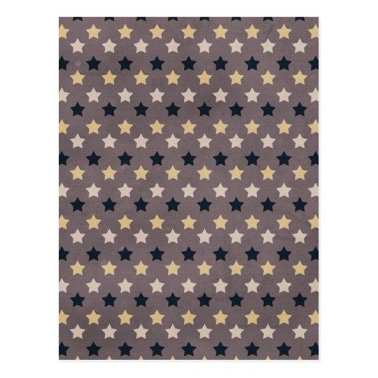 stars08-multi STAR SHAPES PATTERN STRIPES LAYERS M Postcard