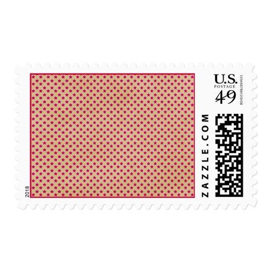 stars08-pink STARS PATTERN CREAM DARK PINK RED TEM Postage