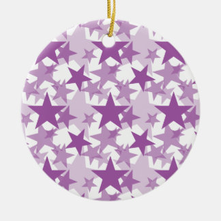 Stars 3 Radiant Orchid Christmas Tree Ornament