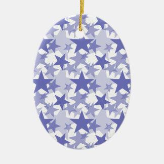 Stars 3 Violet Tulip Christmas Ornament