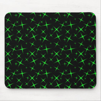 stars 4 Green Mouse Pad