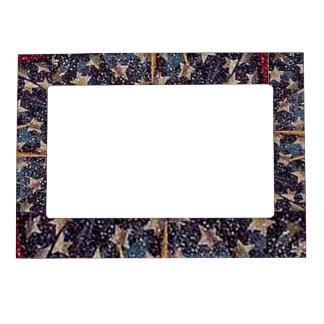 Stars 4th of July Fridge Magnetic Frame 4x6 Photo