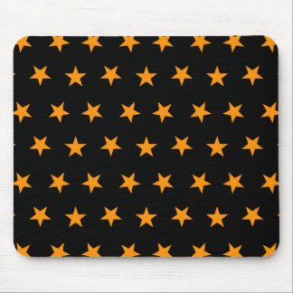 Stars 8 Orange Mouse Pad