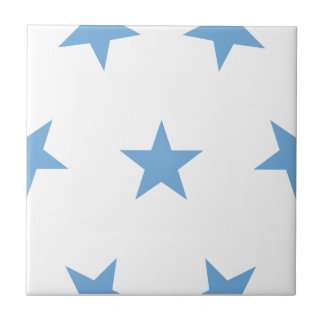 Stars 8 Placid Blue Ceramic Tiles