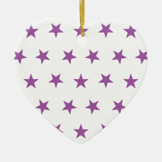 Stars 8 Radiant Orchid Christmas Ornaments