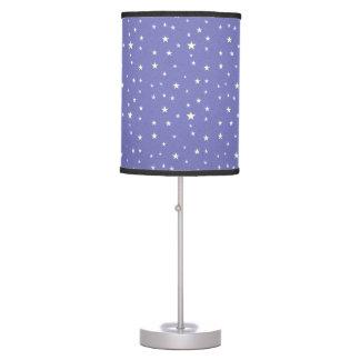 Stars Abounding on Lavender Blue Background Desk Lamp