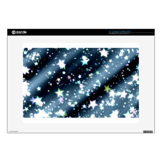 "stars abstract dark black background decals for 15"" laptops"