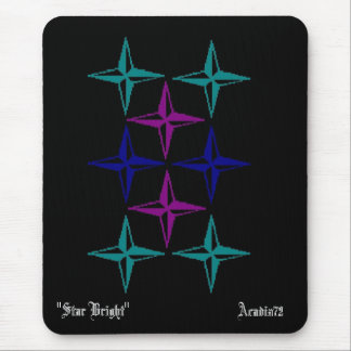 "Stars, Acadia72, ""Star Bright"" Mouse Pad"