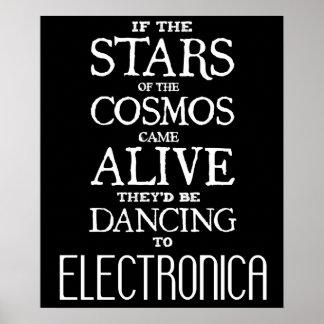 """STARS ALIVE"" - Electro - 24"" x 20"" Poster (Matte)"