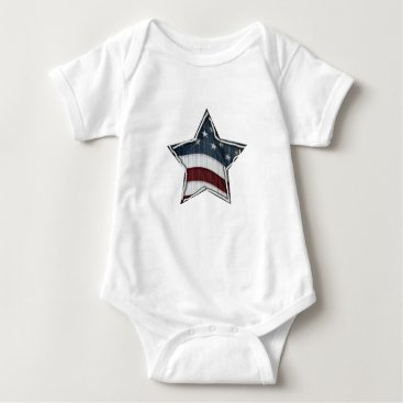 USA Themed Stars and Bars Bodysuit