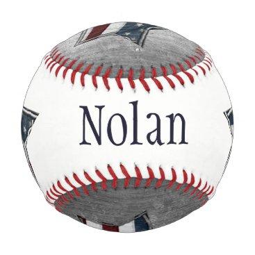 USA Themed Stars and Bars Custom Baseball