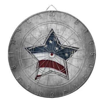 USA Themed Stars and Bars Dartboard