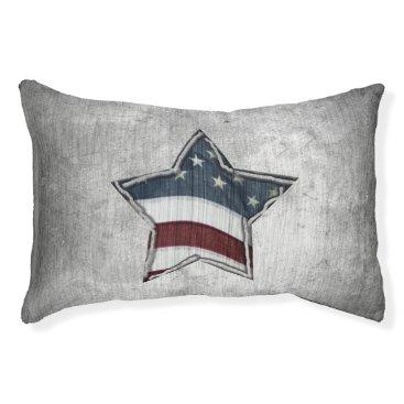 USA Themed Stars and Bars Dog Bed