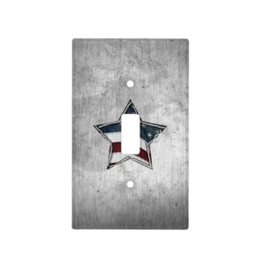 USA Themed Stars and Bars Outlet Cover
