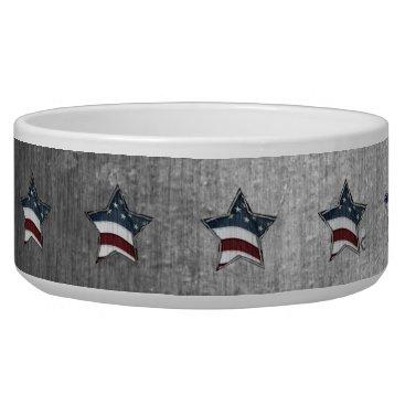 USA Themed Stars and Bars Pet Bowl