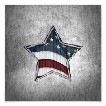 USA Themed Stars and Bars Photo Print