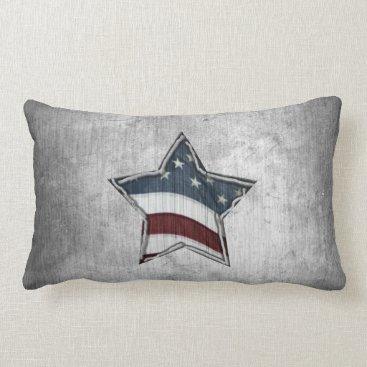 USA Themed Stars and Bars Pillow