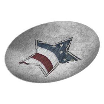 USA Themed Stars and Bars Plate