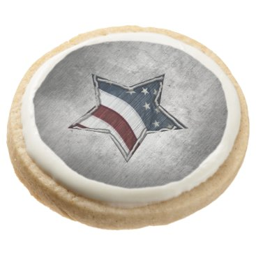 USA Themed Stars and Bars Shortbread Cookies