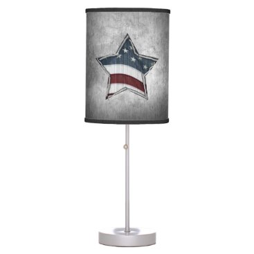 USA Themed Stars and Bars Table Lamp