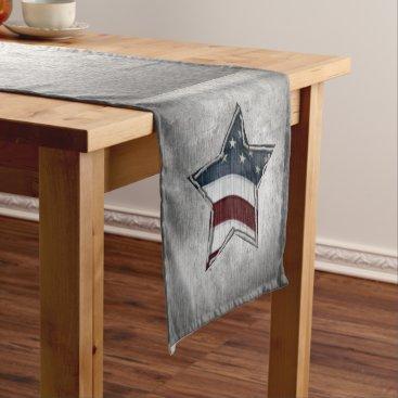 USA Themed Stars and Bars Table Runner