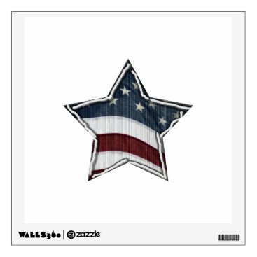 USA Themed Stars and Bars Wall Decal