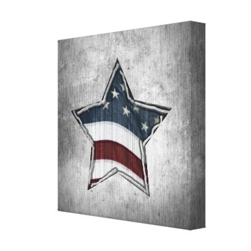 USA Themed Stars and Bars Wrapped Canvas