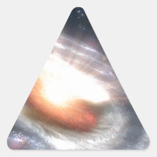 Stars and Black Holes Triangle Sticker