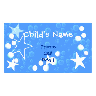 Stars and Bubbles Children's Calling Card Double-Sided Standard Business Cards (Pack Of 100)