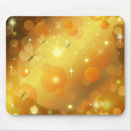 stars and butterflies mouse pad