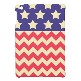 Stars and Chevron American Flag Pattern iPad Mini Covers