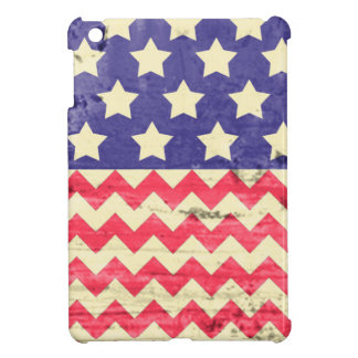 Stars and Chevron Distressed American Flag Cover For The iPad Mini