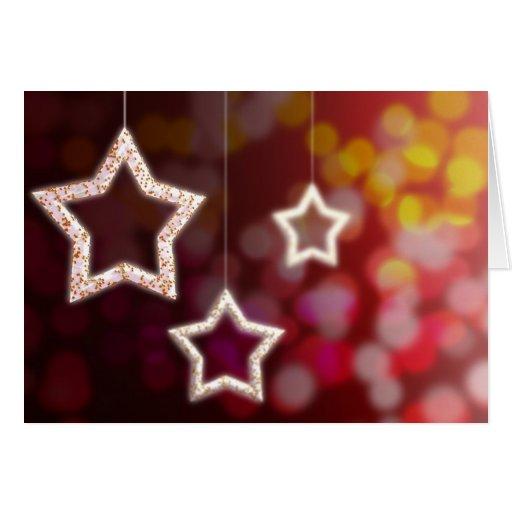 Stars and Christmas light Card