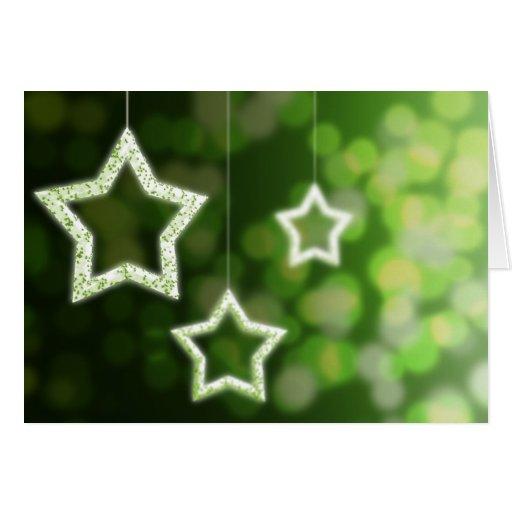 Stars and Christmas light Greeting Card