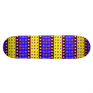 STARS AND CIRCLES PRIMARY COLORS SKATE BOARD DECK