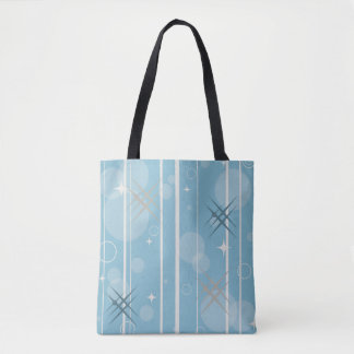 Stars and circles shapes tote bag