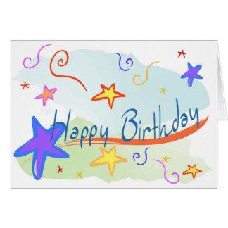 Stars and Confetti Childrens BIrthday Card