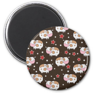 Stars and Cute Cows Pattern Refrigerator Magnets