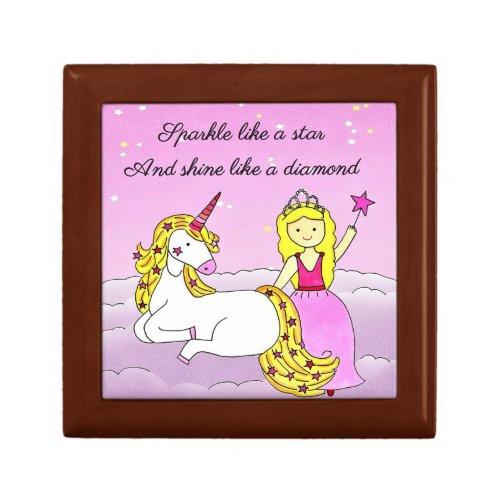 Stars and Diamonds Princess Jewelry Box