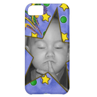 Stars and Dots Photo Frame iPhone 5 Case