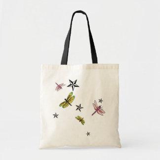 stars and dragonflies bag