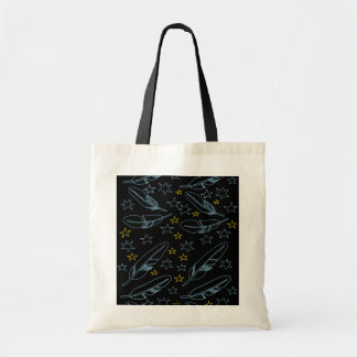 Stars and Feathers Canvas Bag