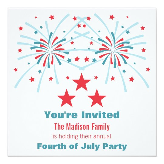 Stars and Fireworks Invite