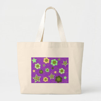 Stars and Flowers! Large Tote Bag