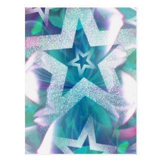 Stars and glitter! postcard