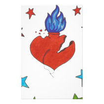 Stars and Heart Stationery