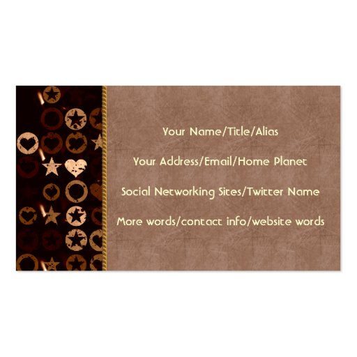 Stars and Hearts Double-Sided Standard Business Cards (Pack Of 100)